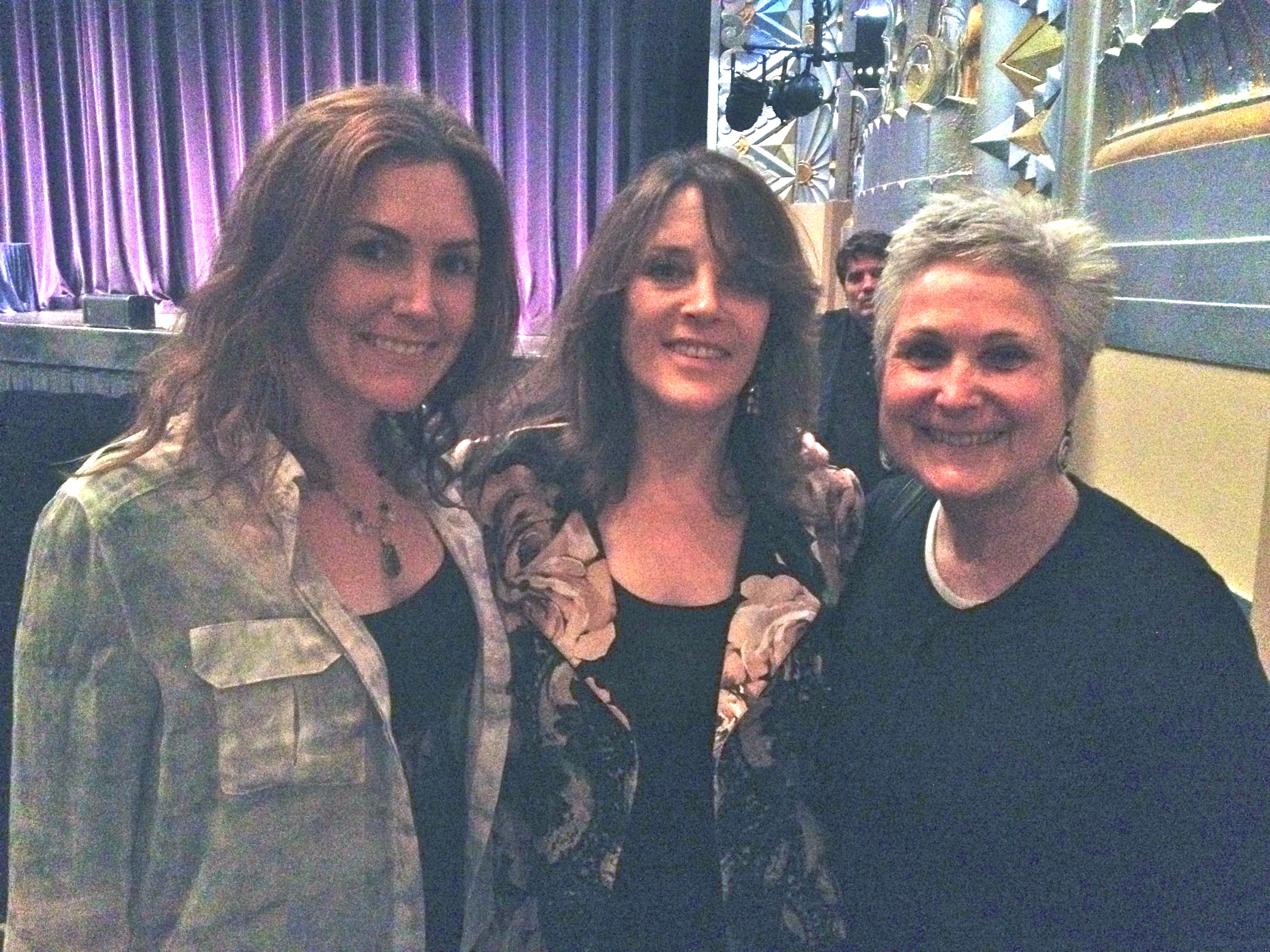 My daughter Paloma and I flanking super master teacher Marianne Williamson after one of her Monday night lectures at the Saban Theater
