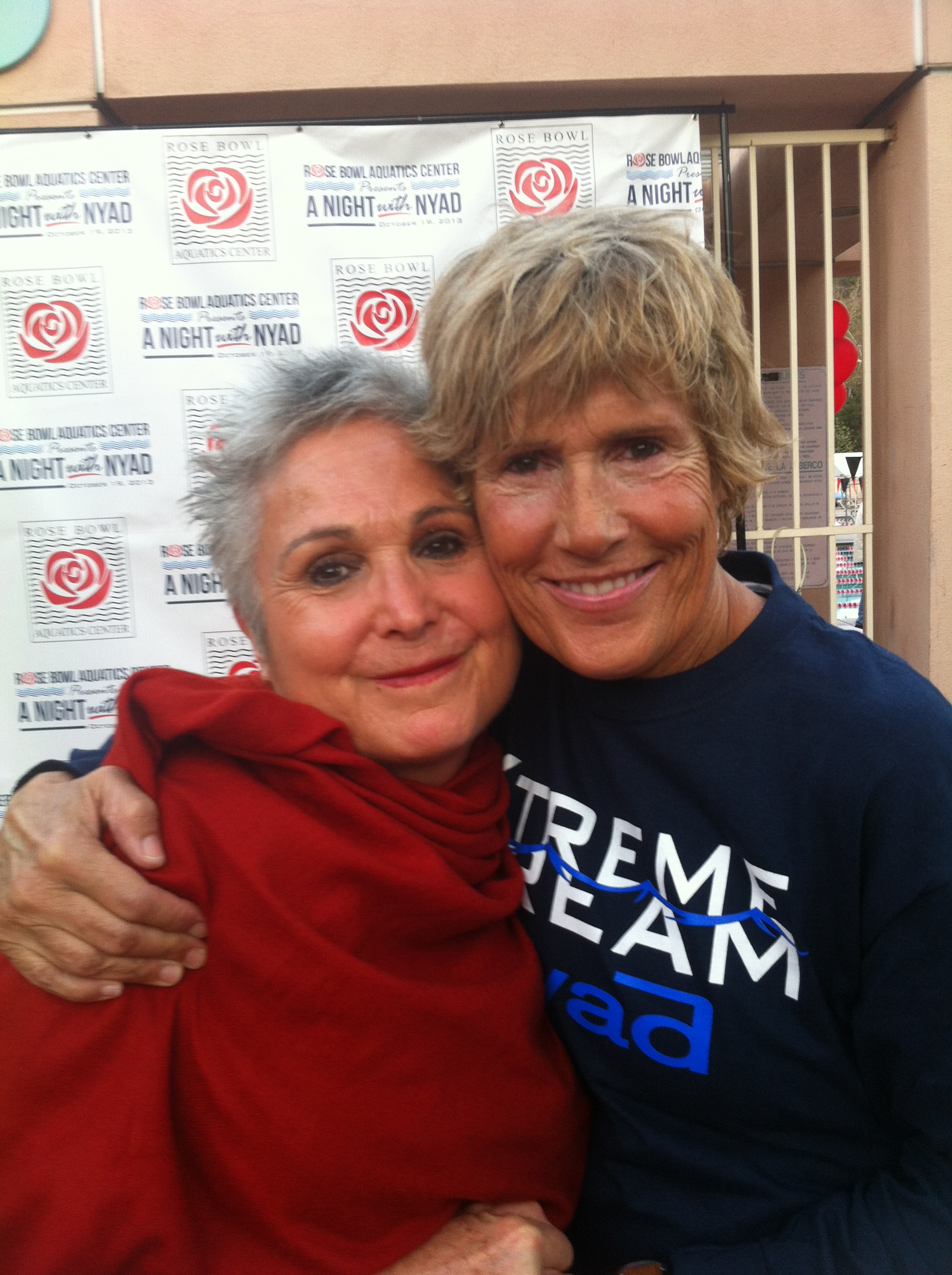 So honored to have met amazing 64 year old marathon swimmer Diana Nyad at the Rose Bowl Aquatics Center, where I swim every week! Her incredible feat of swimming from Cuba to the Florida keys is an accomplishment that proves once again that our bodies--against popular beliefs--are ready to do whatever our minds decide they are capable of doing. Such an inspiration for women my age and beyond!!!