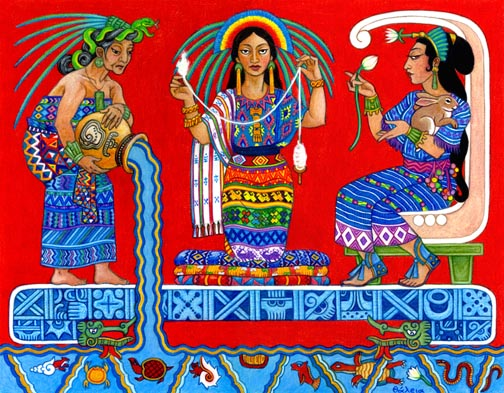 three-faced Mayan Goddess Ix Chel